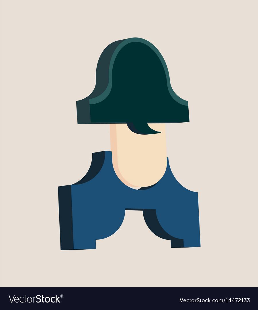 Napoleon bonaparte cartoon character vector image