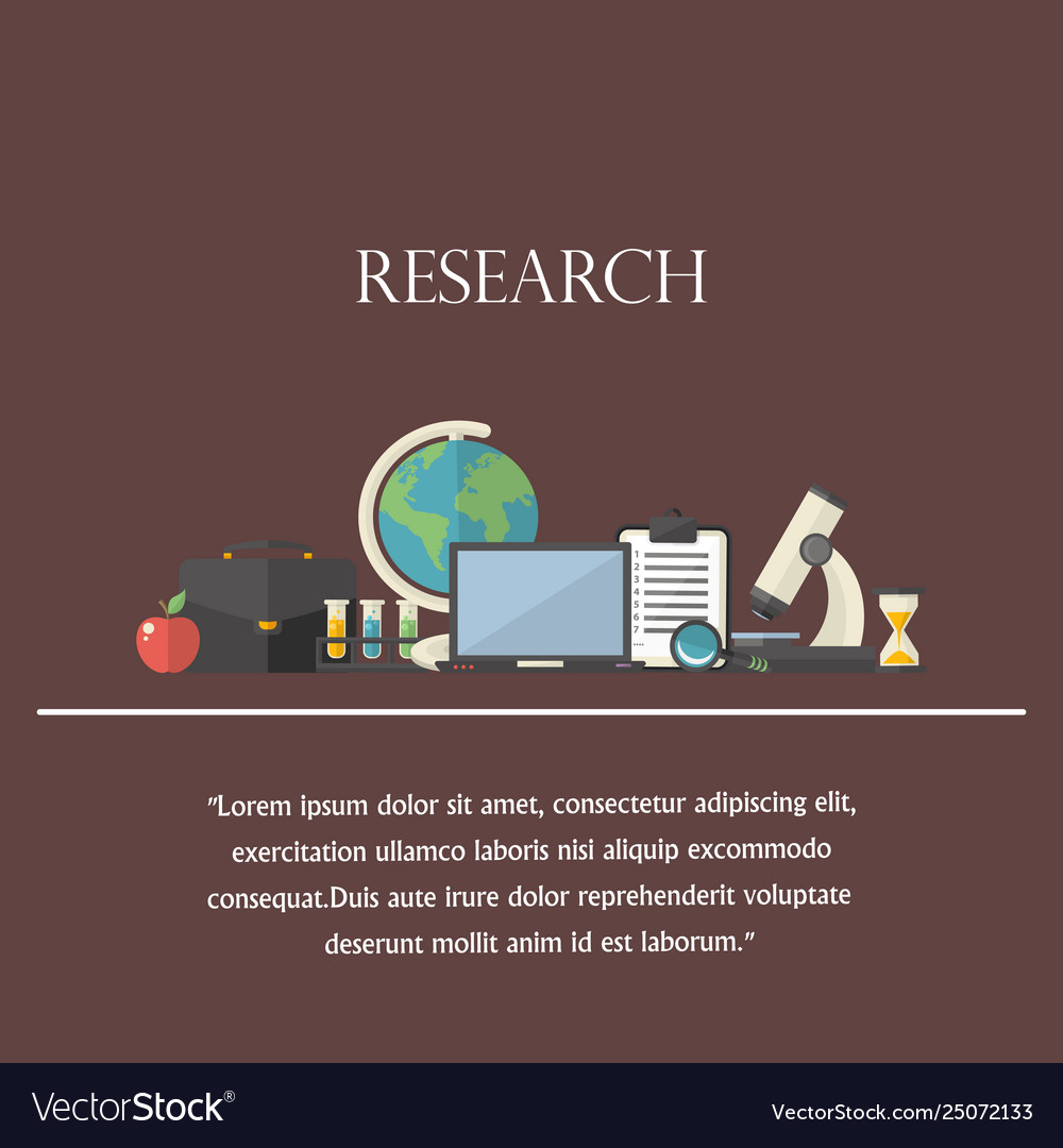 Research concept with text icon