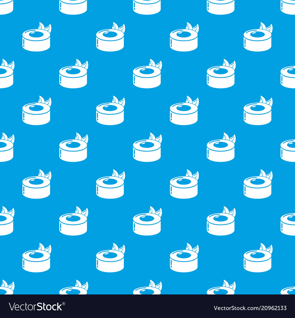 Sushi concept pattern seamless blue vector image