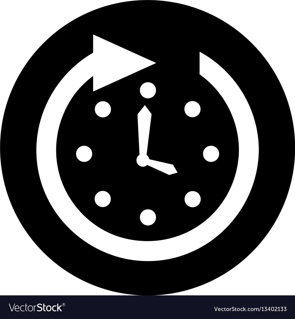 Time clock wall with arrow
