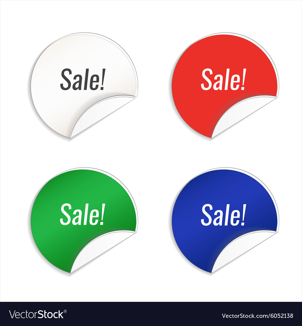 Blank Template Label Royalty Free Vector Image