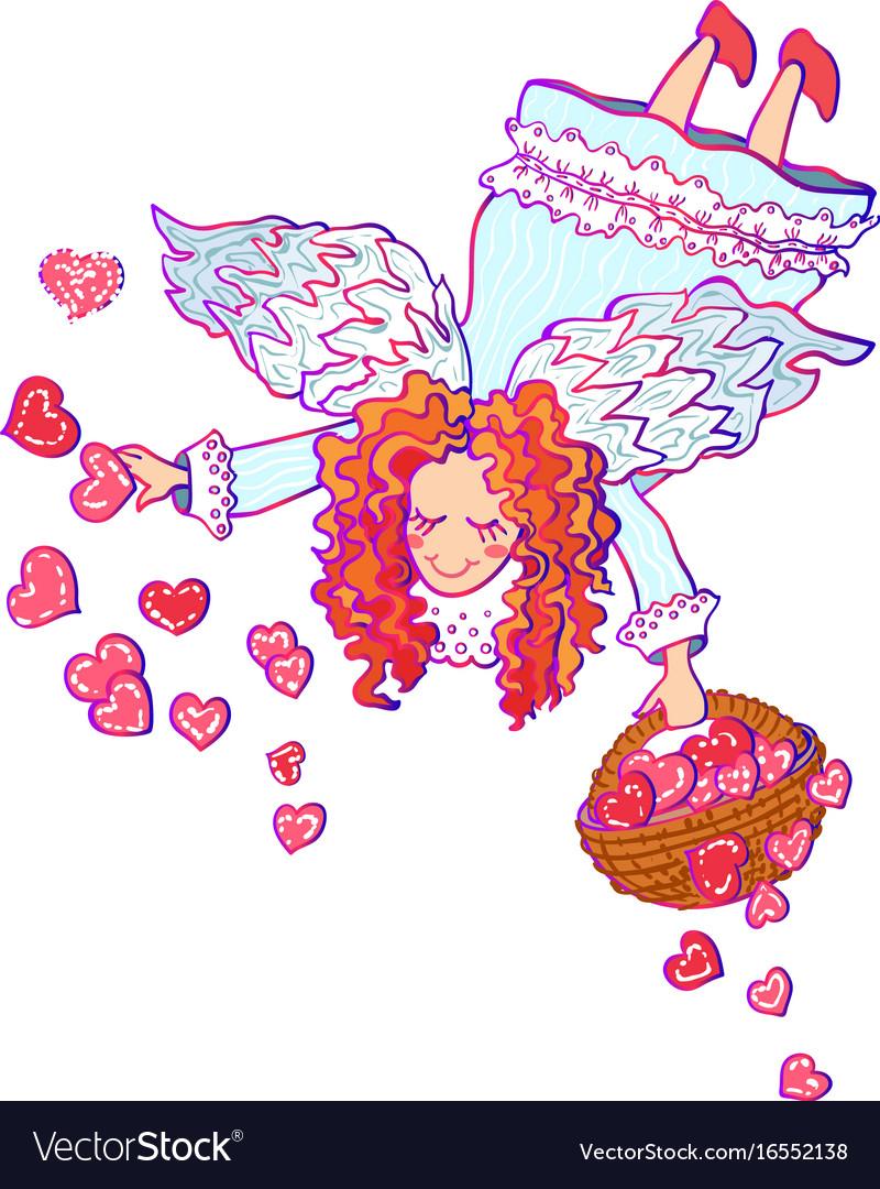 White angel valentine