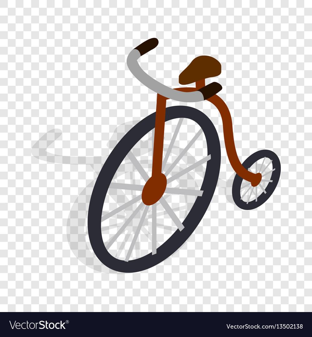 Highwheel bike isometric icon