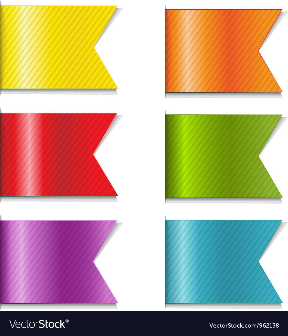 Ribbon Markers vector image