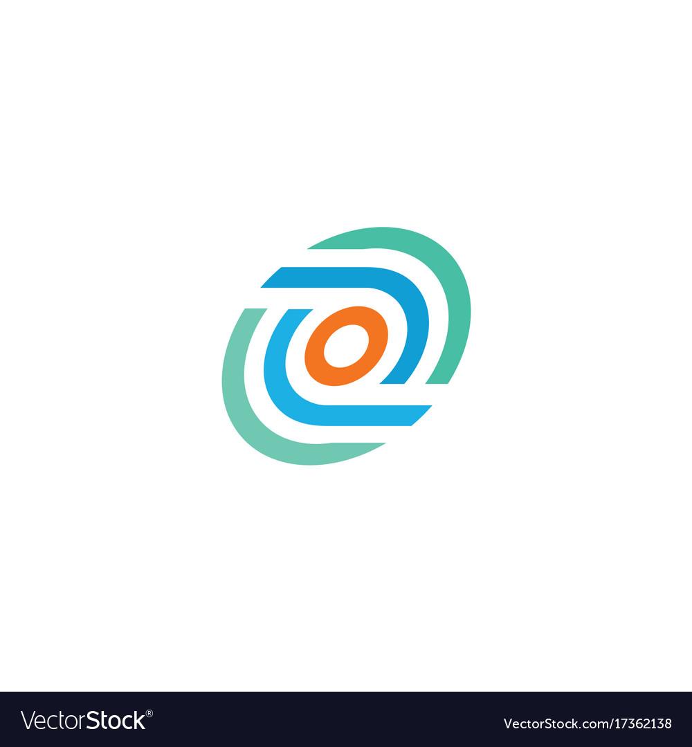 Round circle technology logo