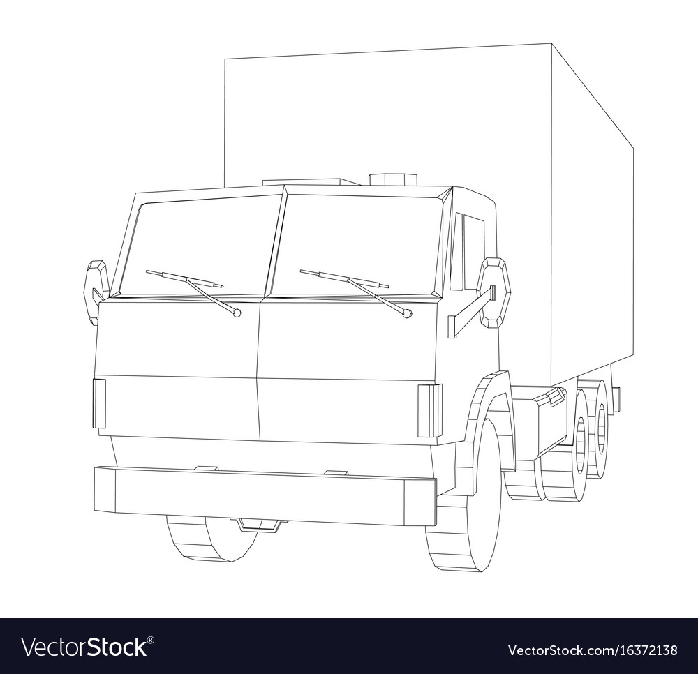 Truck with cargo container transportation concept