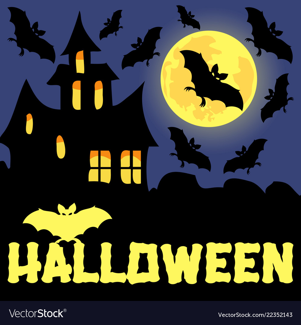 A poster on theme halloween holiday