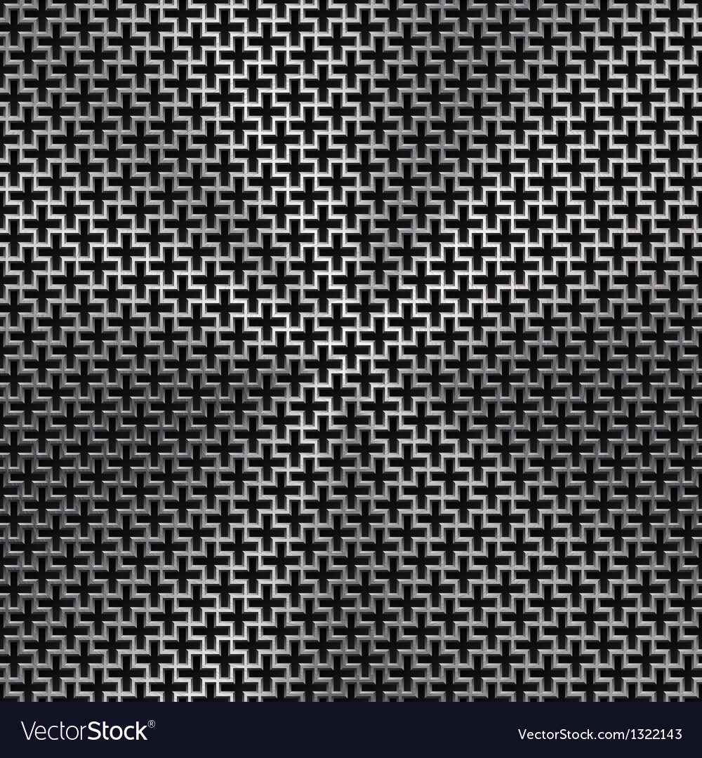 Background with Cross Pattern and Metal Texture vector image
