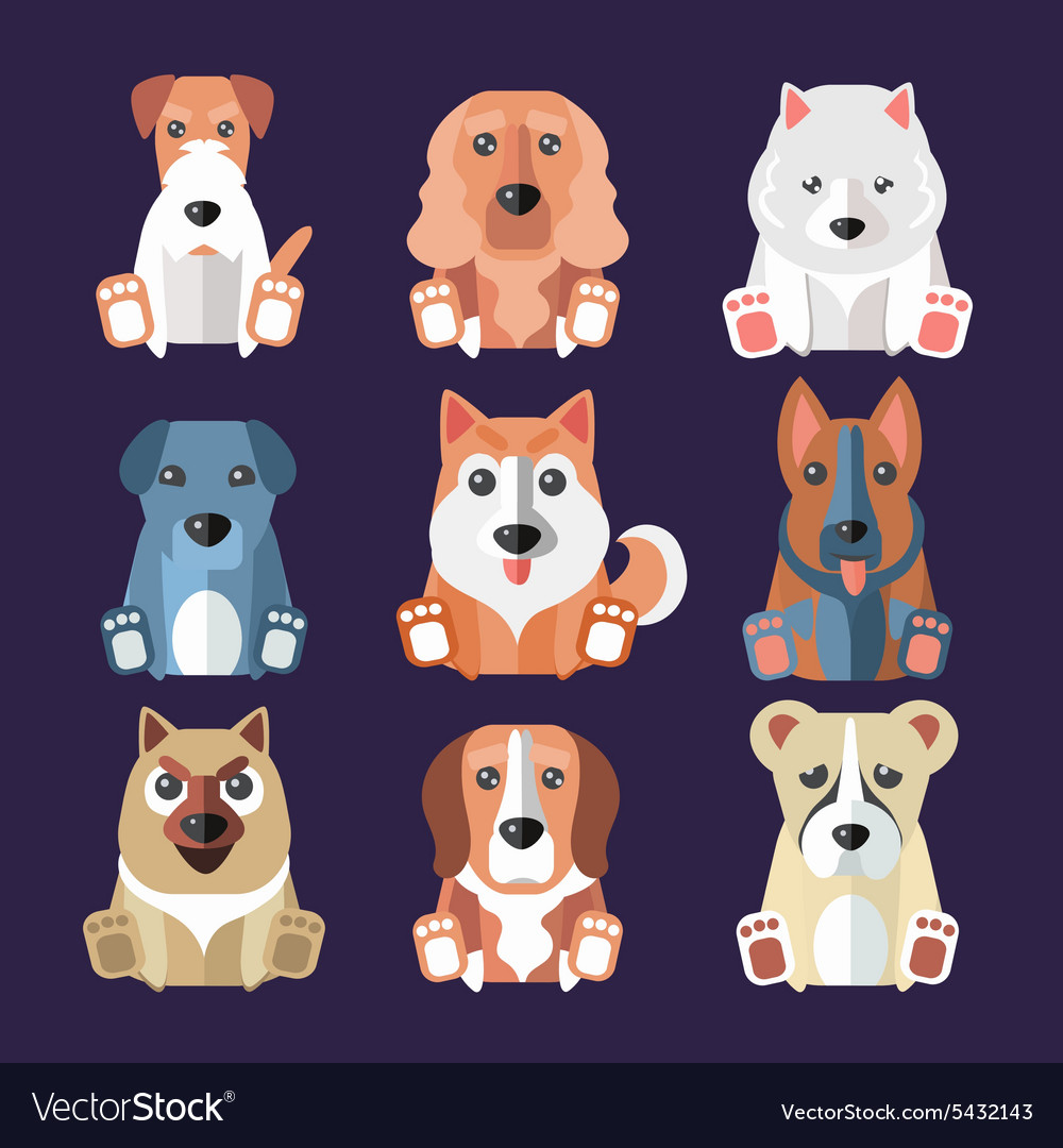 Breeds of Dogs Icons