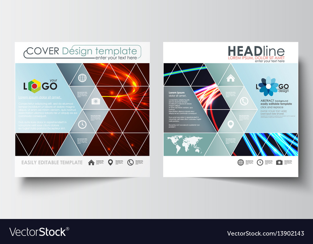 Business templates for square brochure magazine vector image