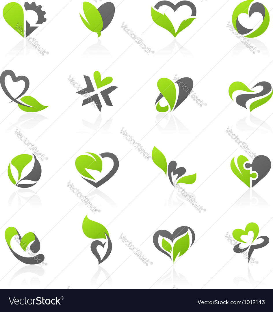 Eco themed design elements vector image