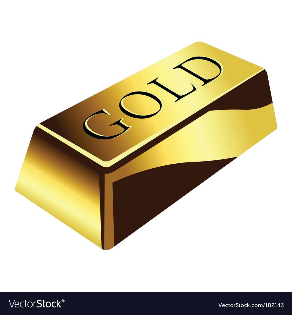 Gold Bar Royalty Free Vector Image