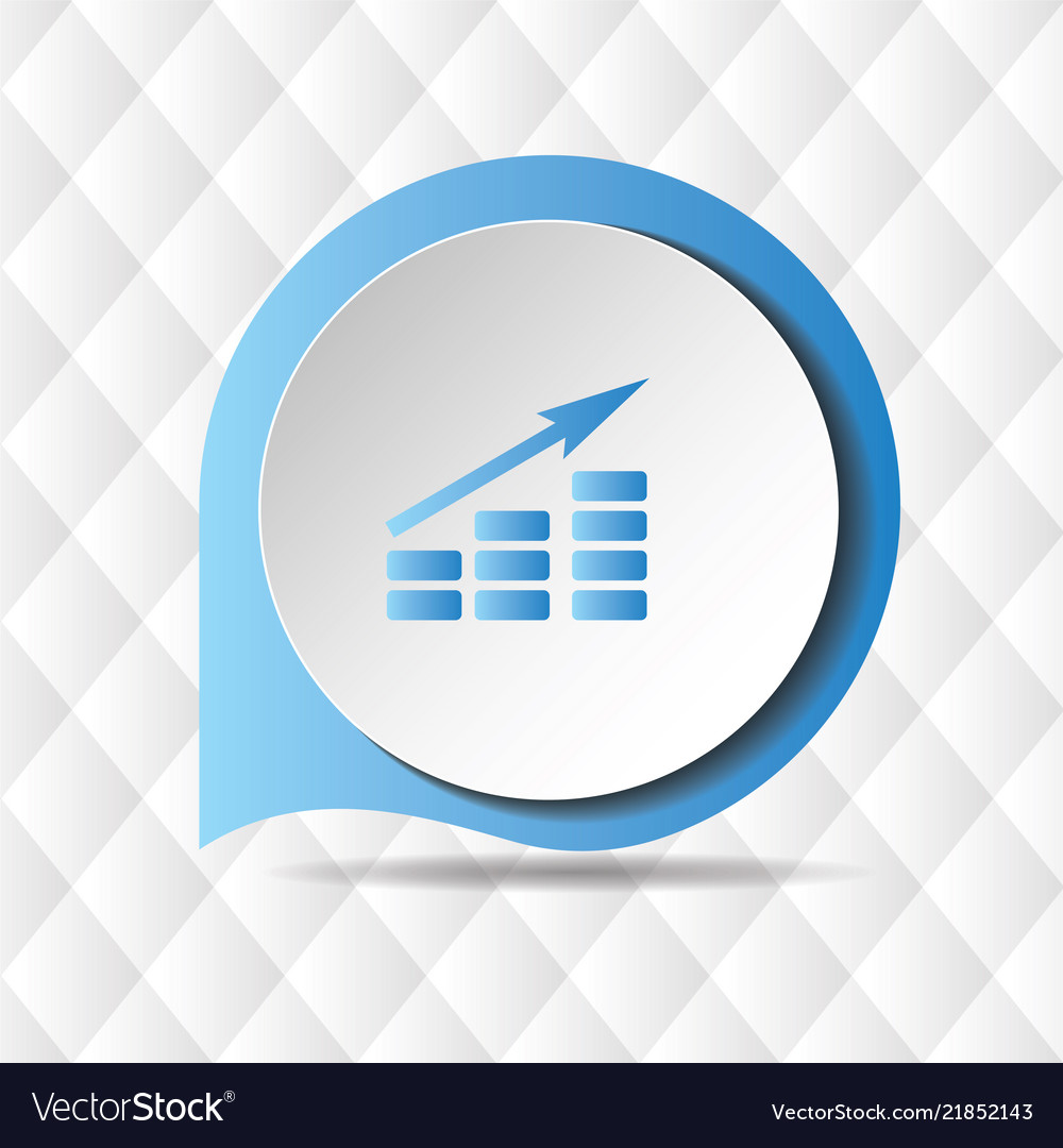Growing graph icon geometric background ima
