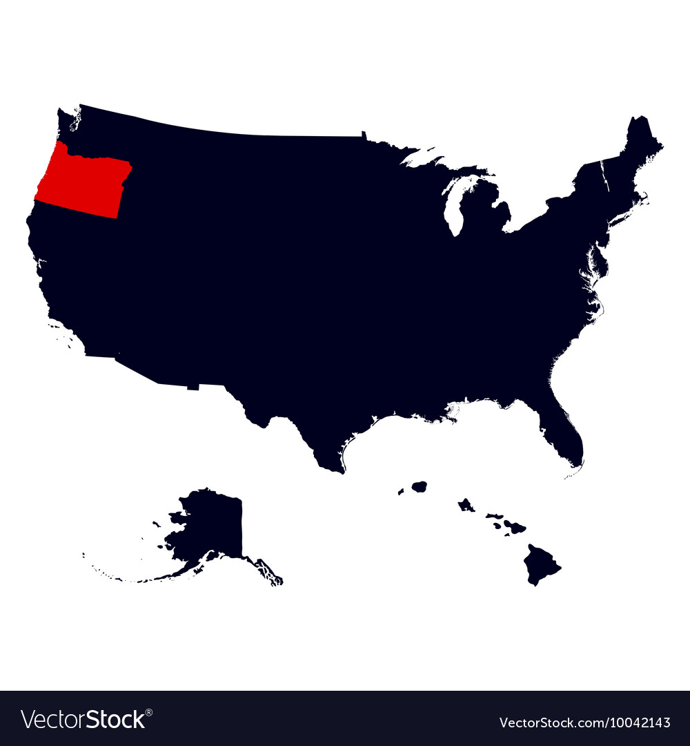 United States Map Oregon.Oregon State In The United States Map Royalty Free Vector