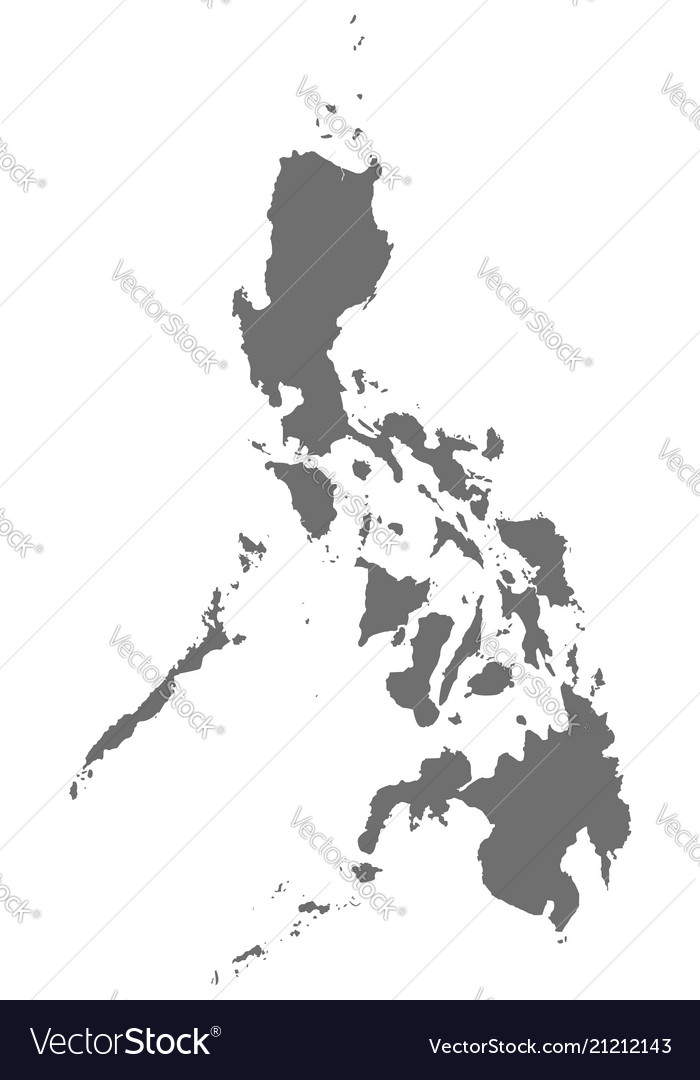 Philippines map in gray