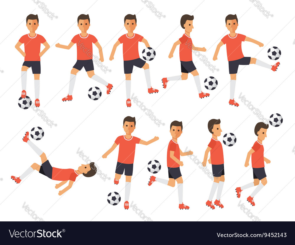 Soccer players football sport athletes in actions