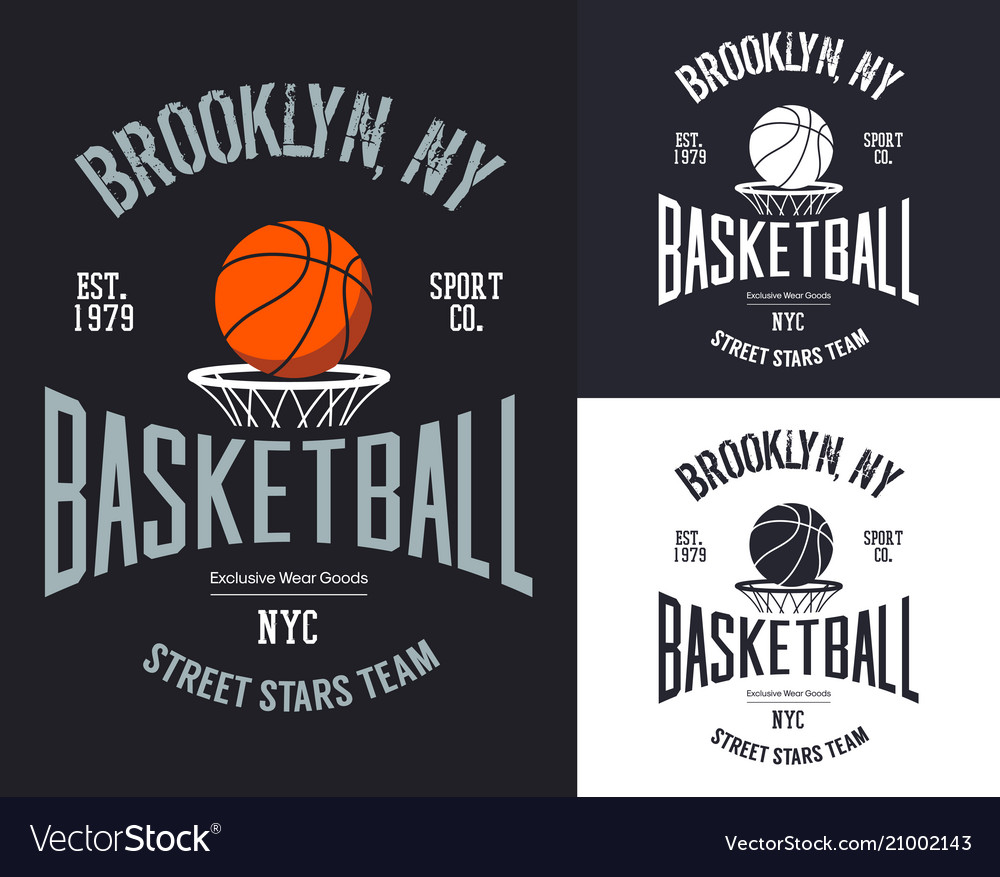 Streetball or urban sport team badge or sign