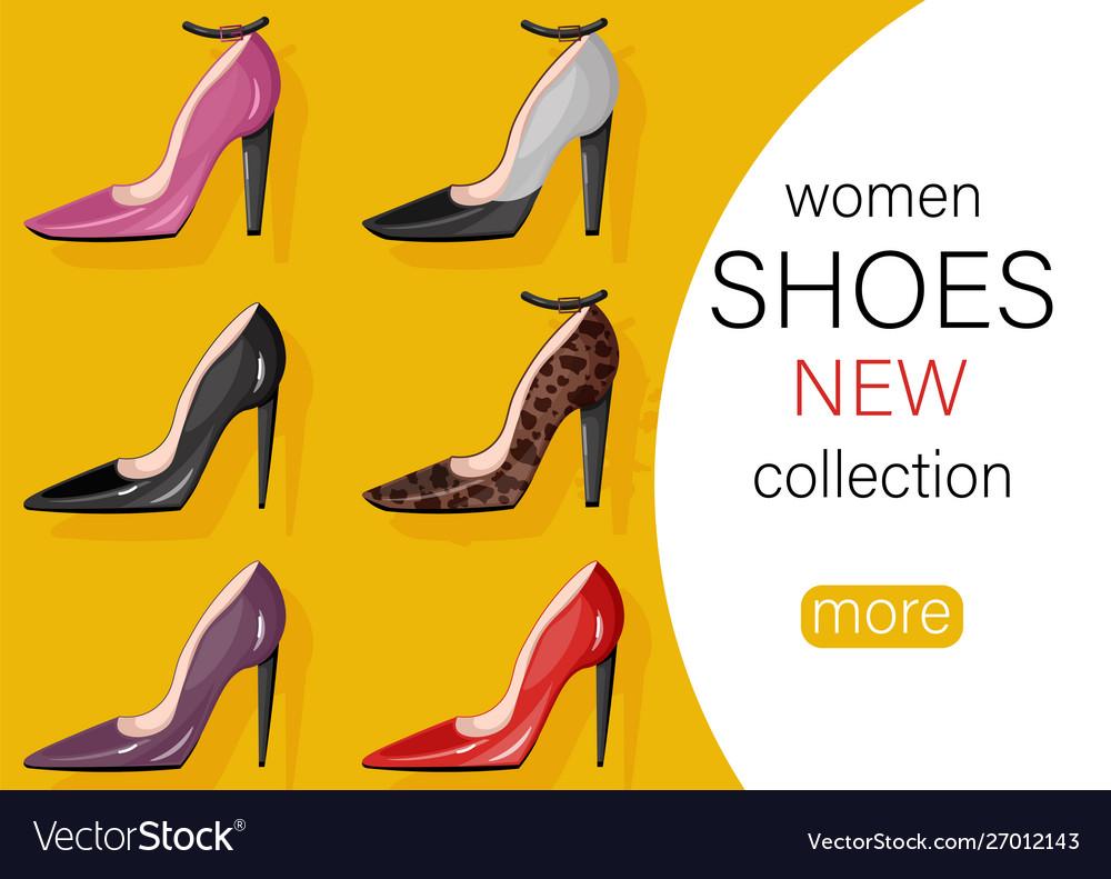 Woman shoes sale promotion brochure