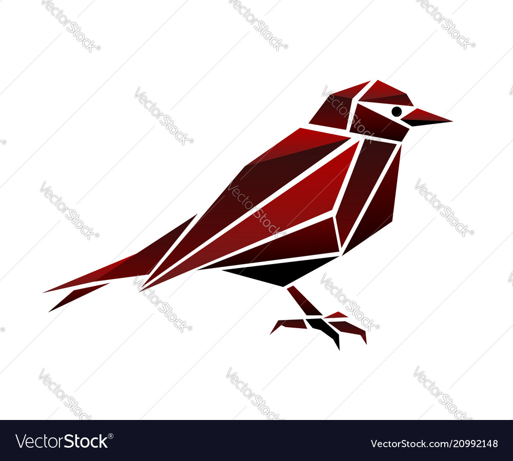 Abstract bird polygonal