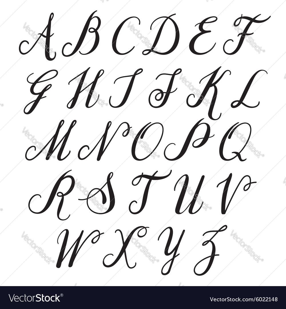 Alphabet letters uppercase
