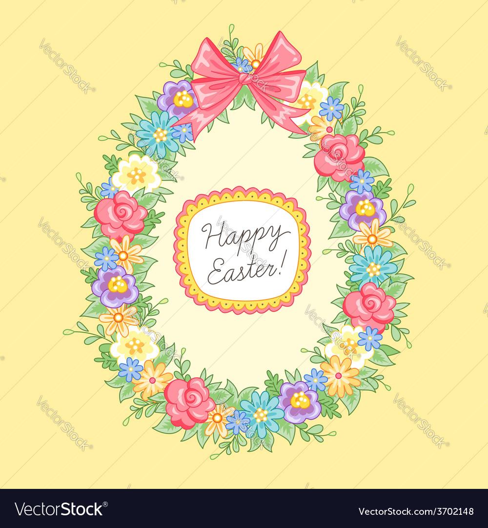 Easter wreath egg