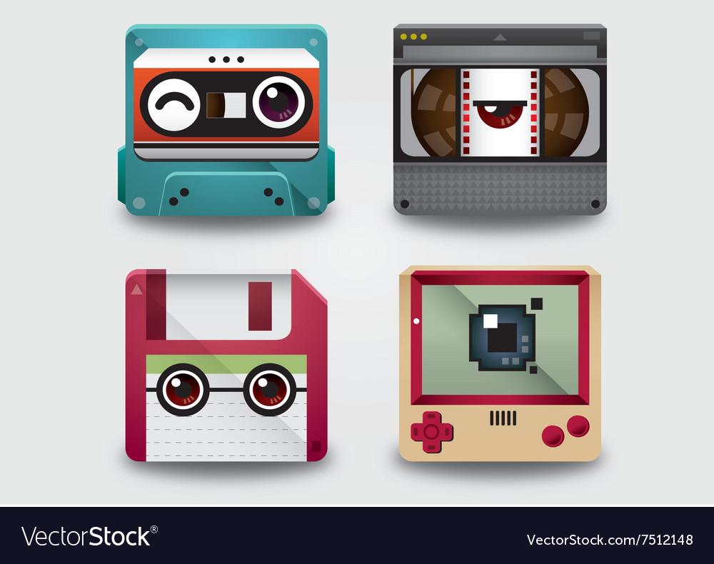 Icon 90s gadget vector image