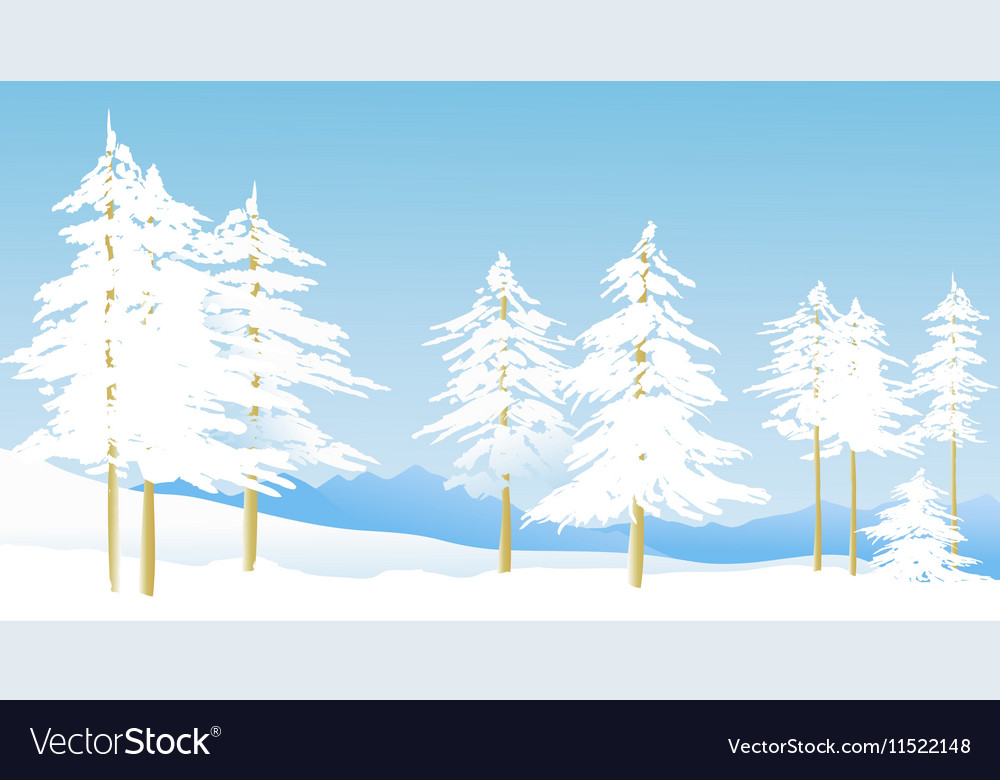 Winter mountain landscape vector image