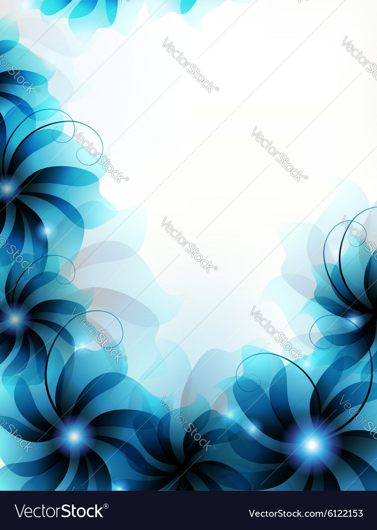Abstract blue flowers royalty free vector image abstract blue flowers vector image izmirmasajfo