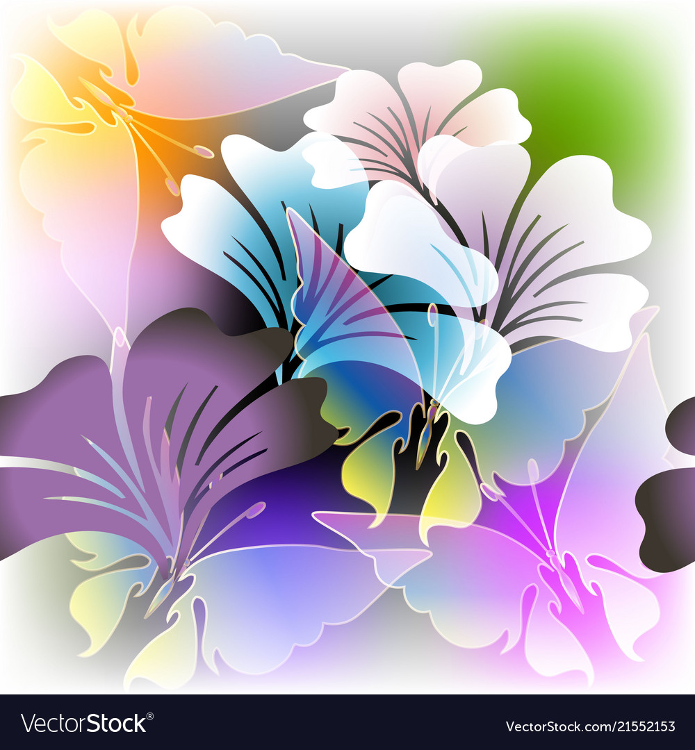 Colorful floral glowing spring summer