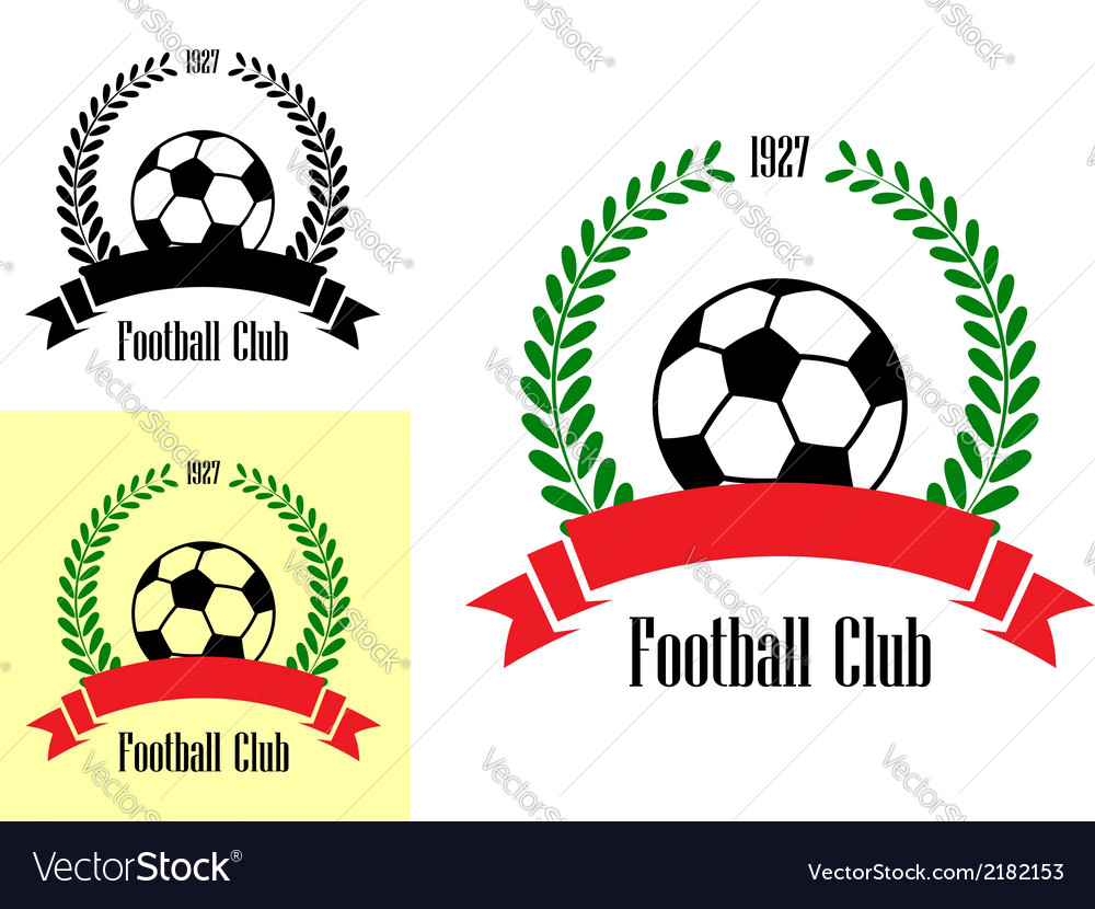 Football club emblems vector image