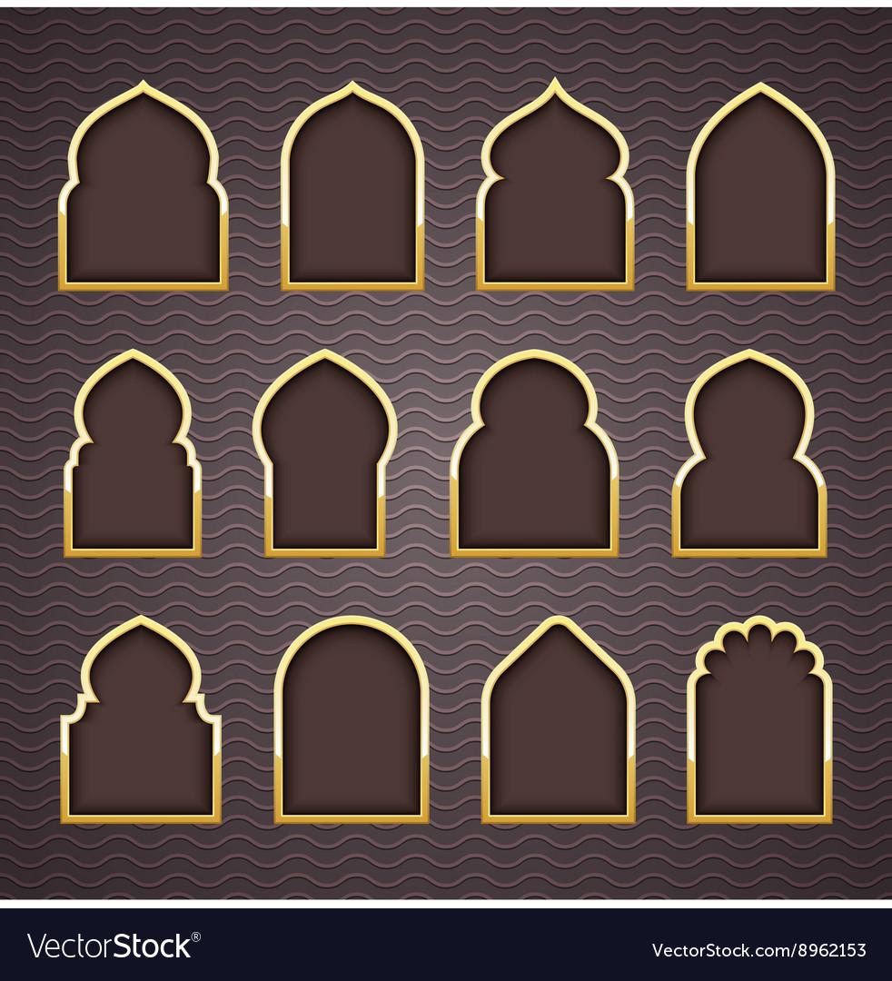 Gold Design Arab window Ramadan Kareem on jerusalem window, jesus window, valentines day window, thank you window, fashion window, new year window,
