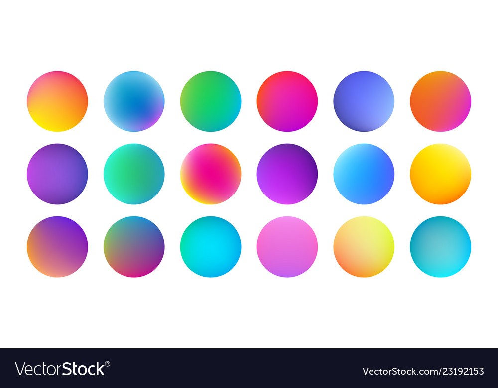 Gradient color circles with watercolor