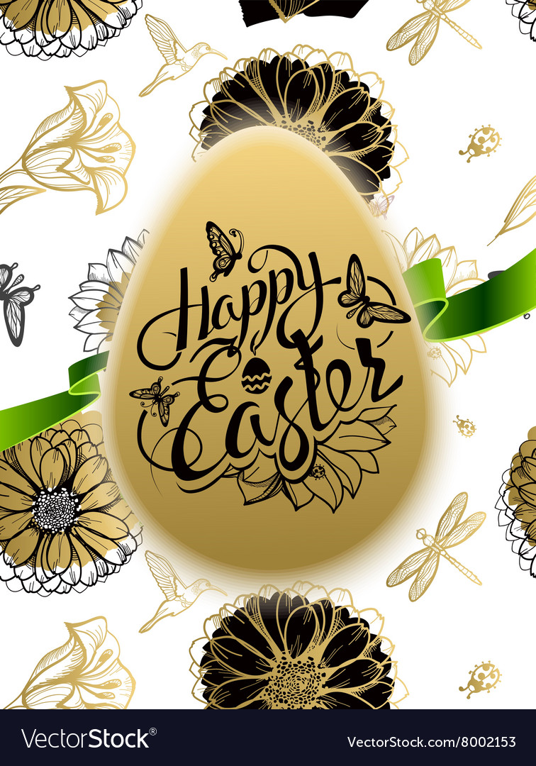 Happy Easter Sign symbol logo on background