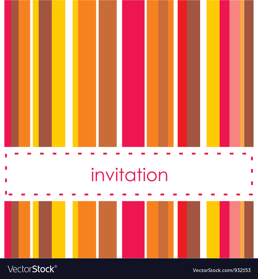 Invitation card template with vertical bars