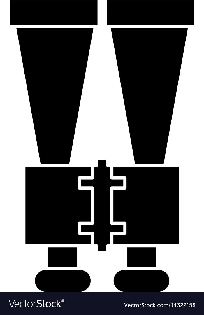 Binoculars look observe pictogram