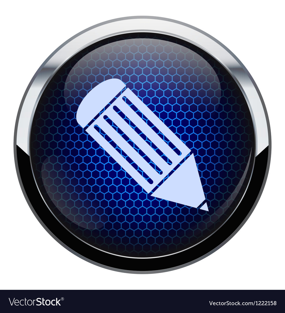 Blue honeycomb pencil icon