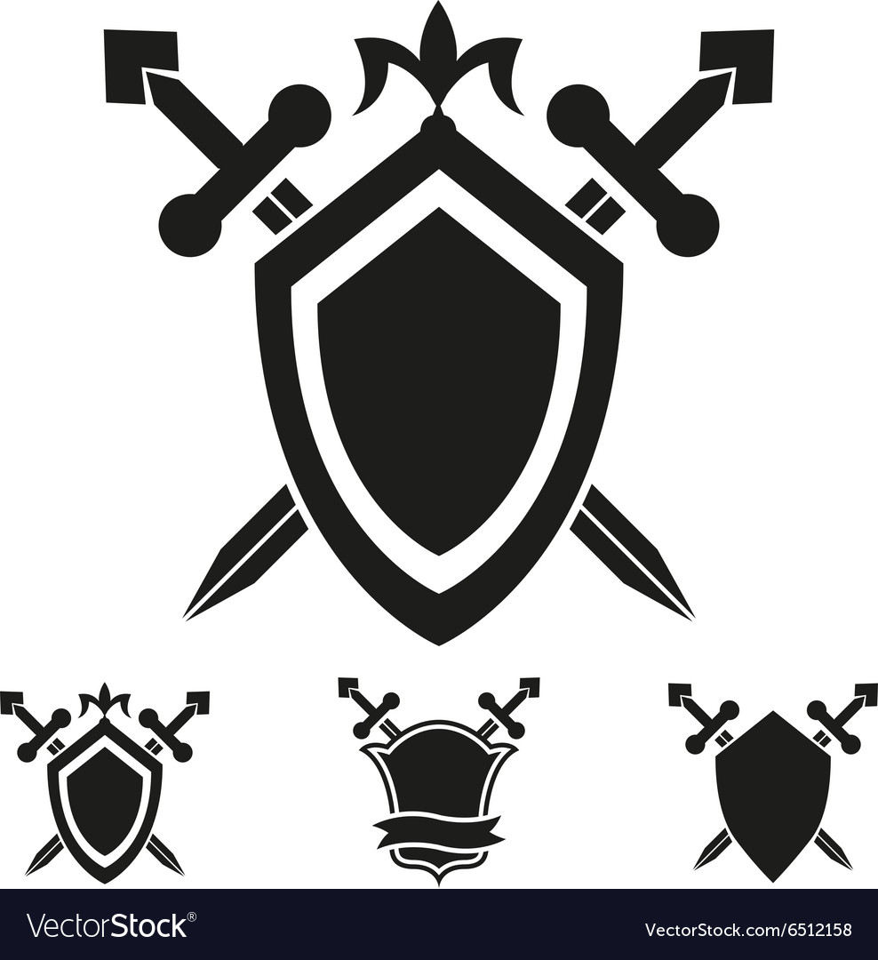 Coat of arms knight shield templates Royalty Free Vector