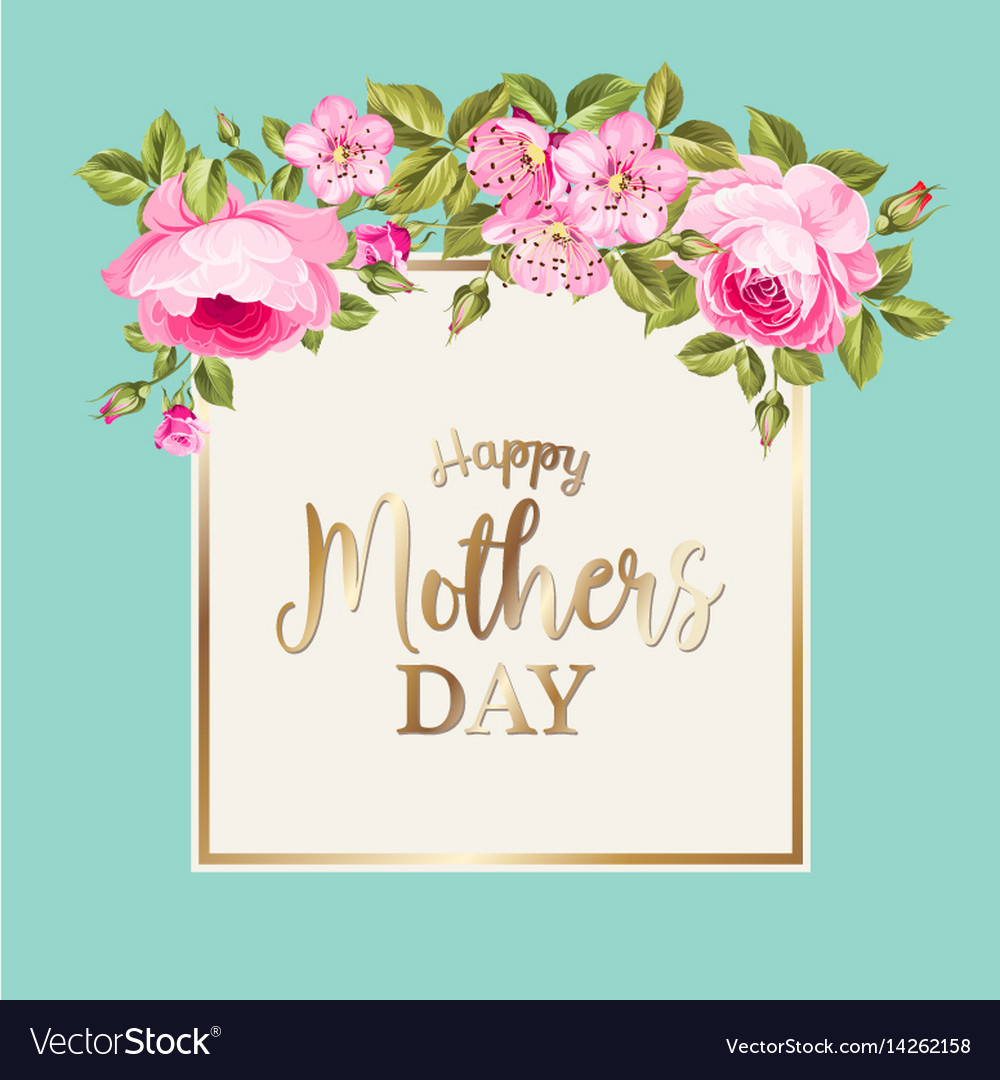 Happy Mothers Day Greeting Card Royalty Free Vector Image