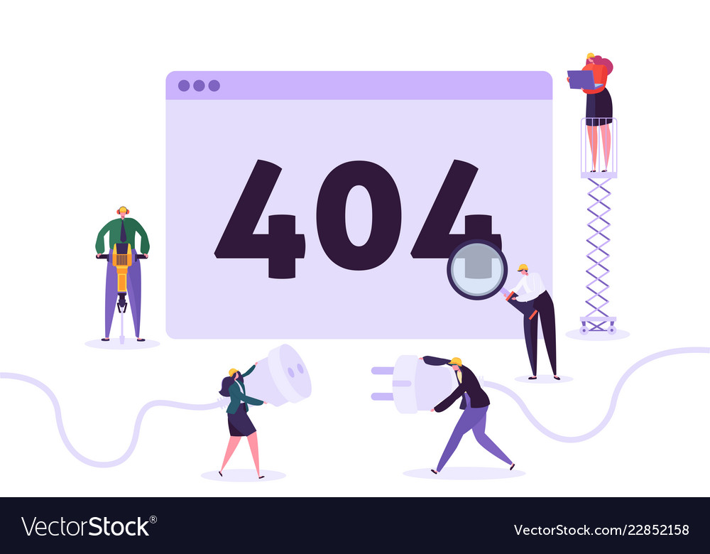 Website under construction 404 page characters
