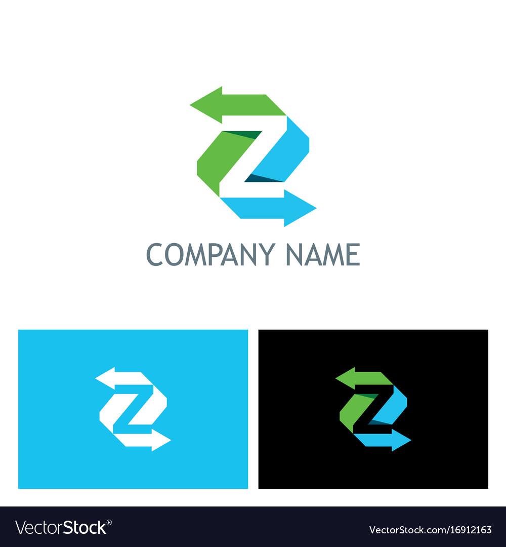 Arrow letter z colored logo