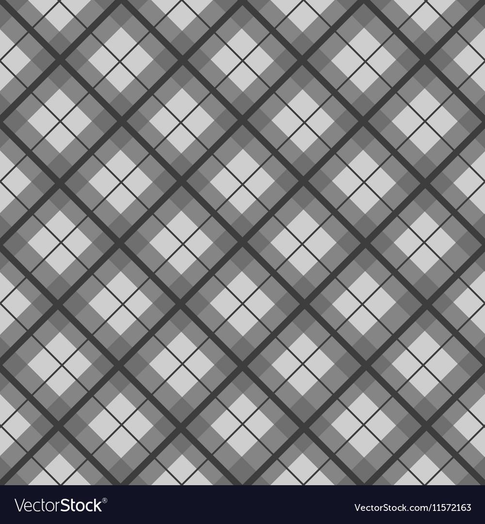 Black White Tartan Diamond Background Royalty Free Vector