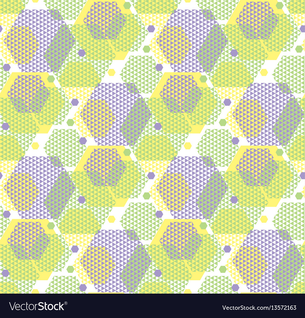 Concept modern geometry hexagone pattern in green
