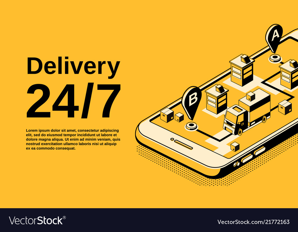 Delivery service isometric