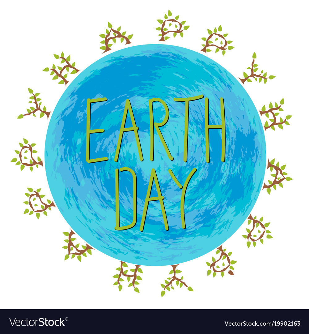 Happy Earth Day Images happy earth day royalty free vector image - vectorstock