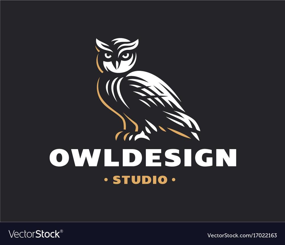 Owl logo- emblem design