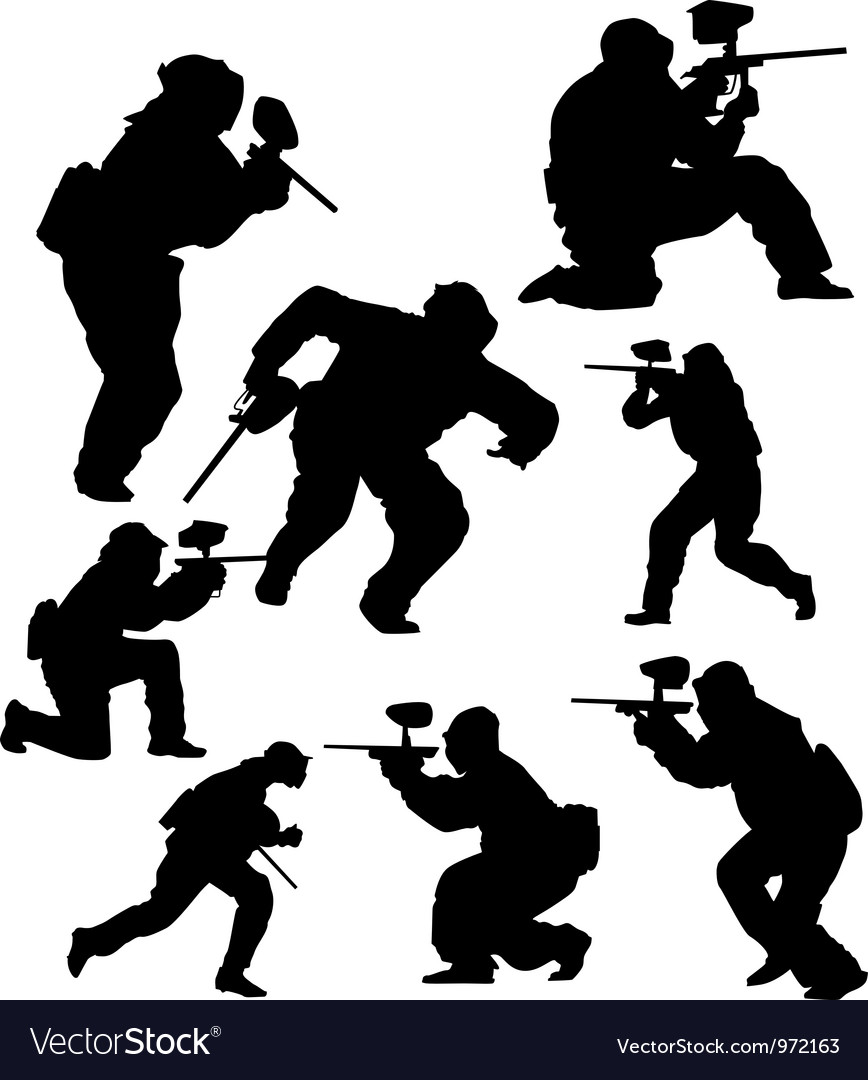 Paintball vector image