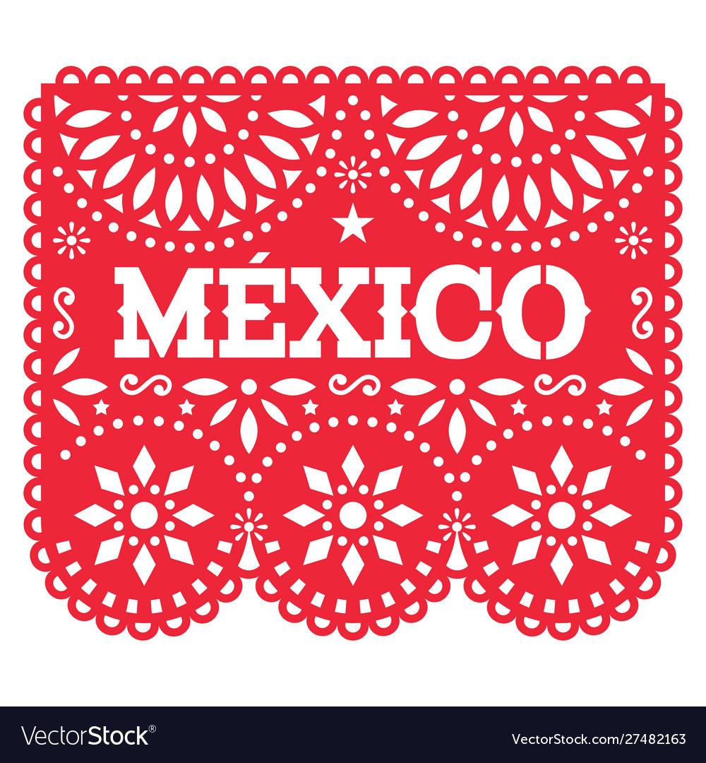 Papel picado mexico design retro mexican