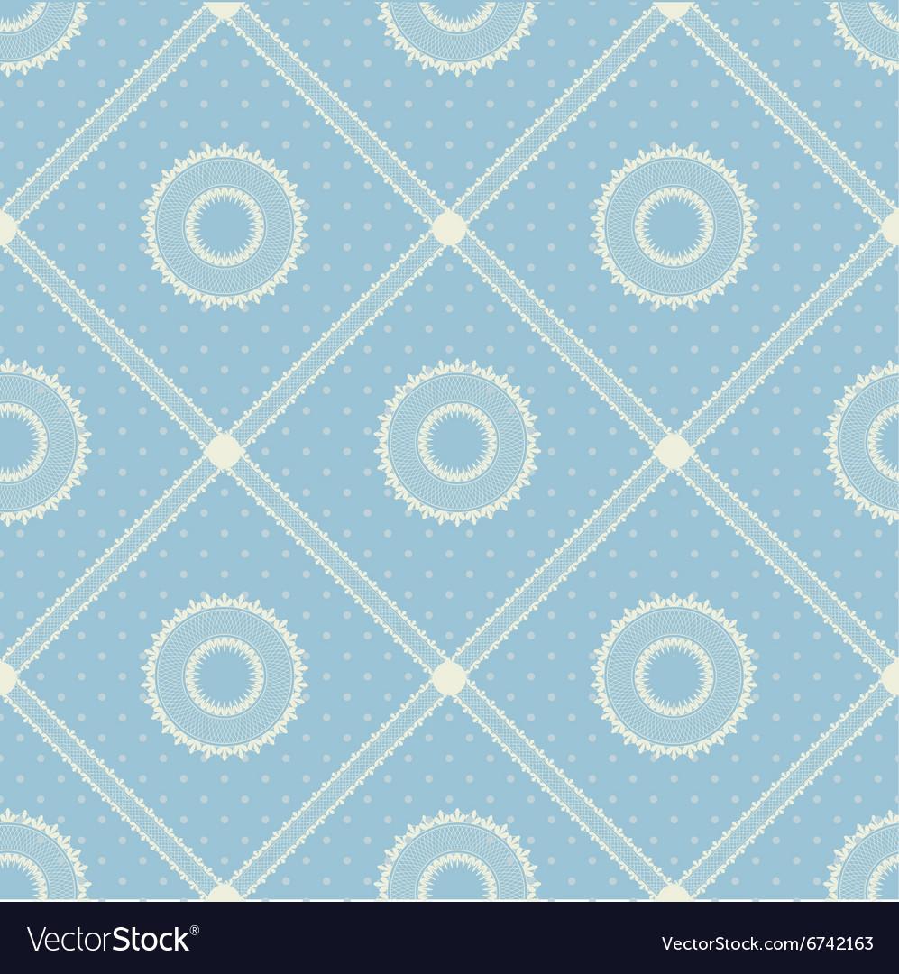 Seamless pattern with lace ribbon