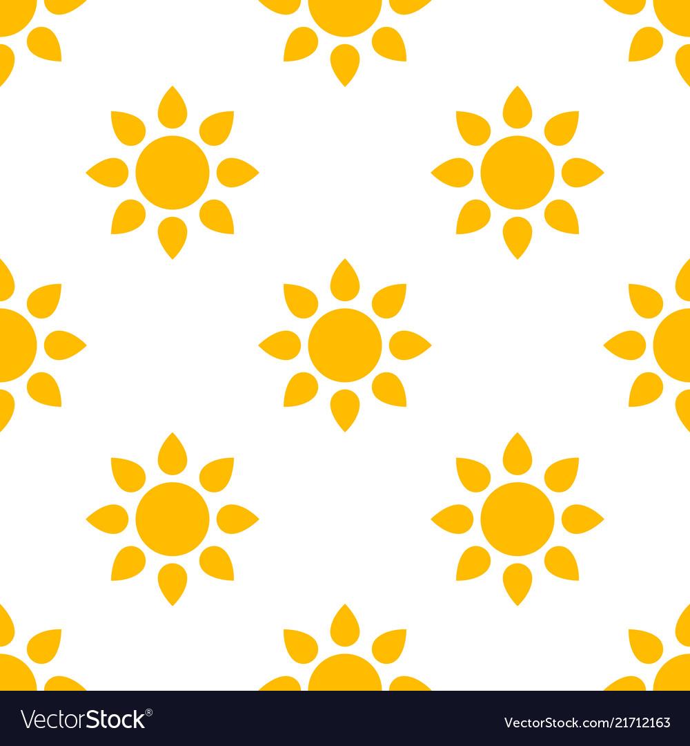 Simple sun seamless pattern background