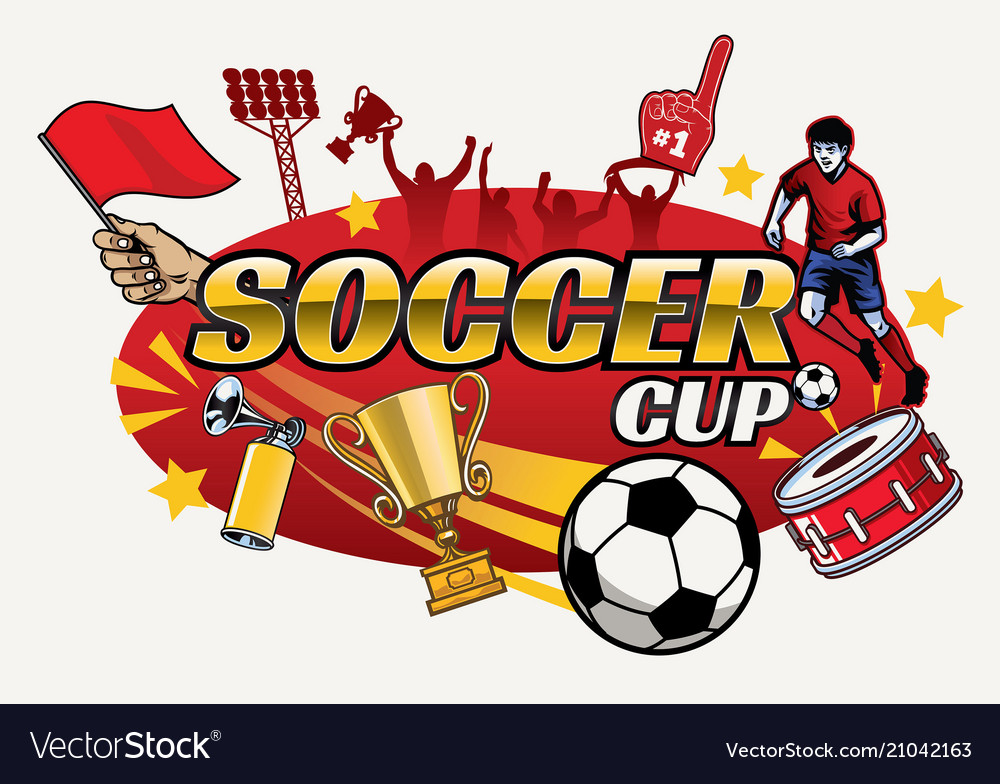 Soccer cup design with separated objects